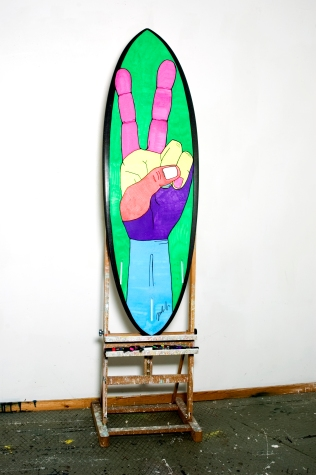 Surfboard as canvas (Bottom)