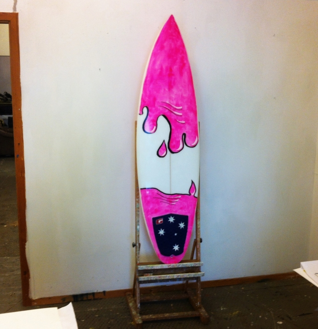 Surfboard as canvas sept 2013 b