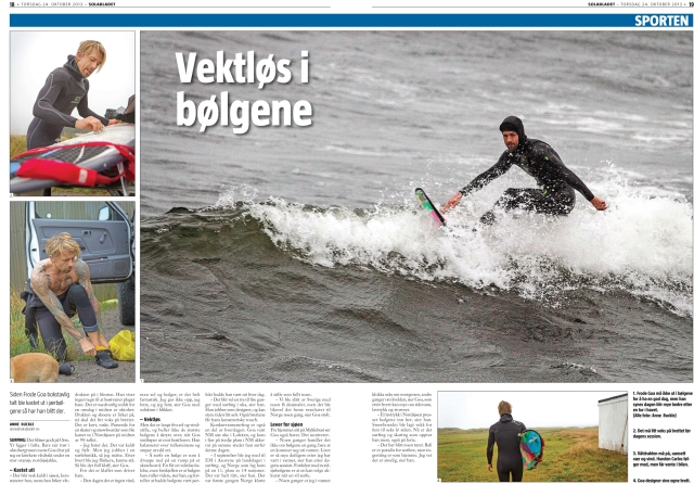 Spread in Solabladet. A local Norwegian Newspaper.