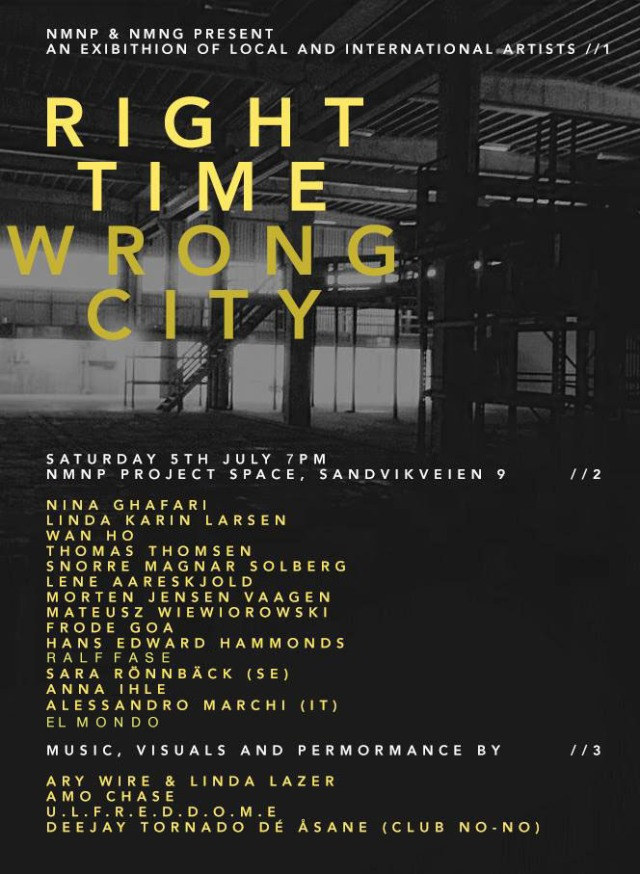 RIGHT TIME, WRONG PLACE exhebition poster